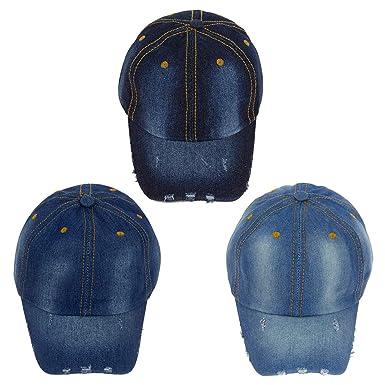 24 Pack Wholesale Denim Jean Baseball Cap Adjustable - Bulk Case of ... fbe977503390