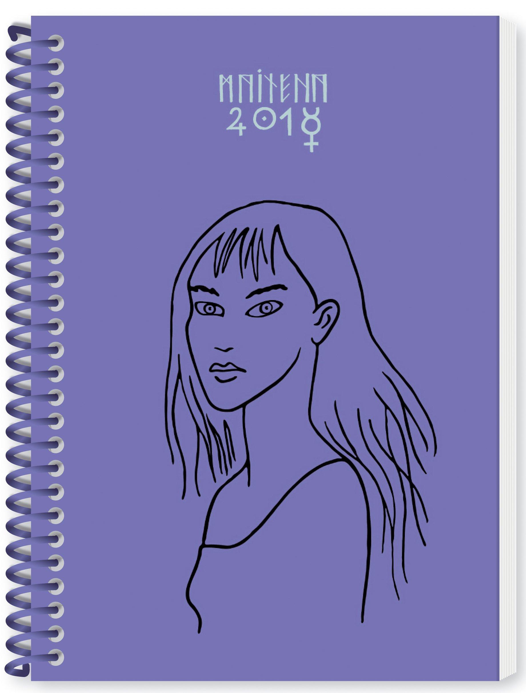 Granica Maitena Bruja - Agenda anillada 2018, color lilia ...