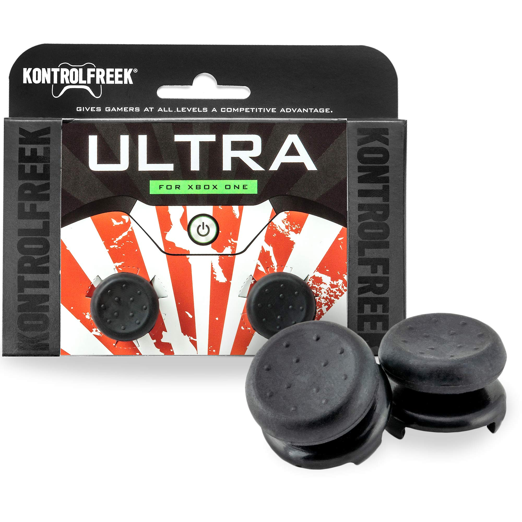 KontrolFreek Ultra for Xbox One Controller | 2 Performance Thumbsticks | 2 High-Rise Concave | Black by KontrolFreek