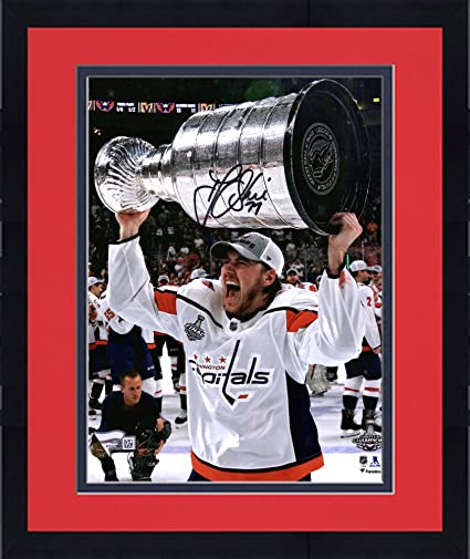 Framed T.J. Oshie Washington Capitals 2018 Stanley Cup Champions  Autographed 8 quot  x 10 quot  Raising e008fb99b
