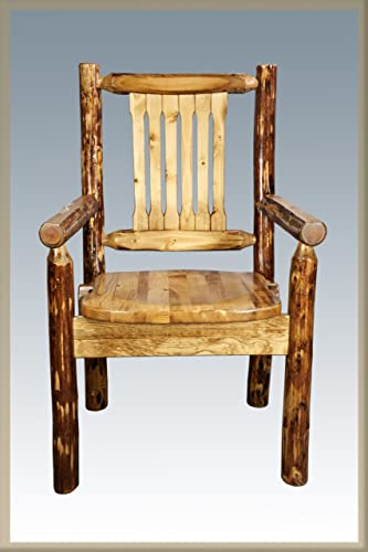 Montana Woodworks Glacier Country Collection Captain s Chair with Ergonomic Wooden Seat