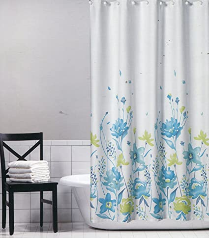 Amazon.com: Tahari Home Aqua Blue and Pale Green Floral Fabric ...