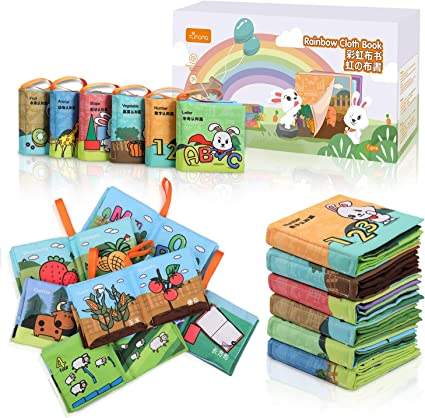 Soft Cloth Book Baby Toys Early Learning Education Animals Book Infant Toys DP