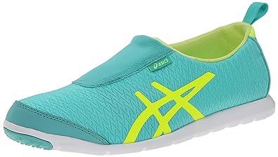 ASICS Women's Metrolyte Slip On Walking Shoe, Ice Green/Flash Yellow/White,