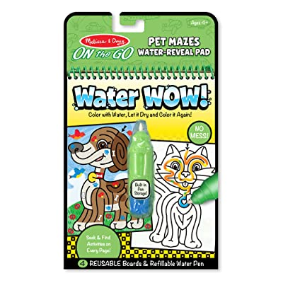 Melissa & Doug On the Go Water Wow! Water-Reveal Activity Pad - Pet Mazes: Toy: Toys & Games