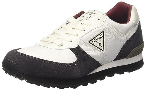 Guess Active Man, Zapatillas para Hombre, Blanco (White White), 43 EU
