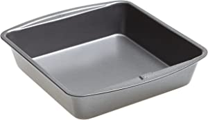 Goodcook 786173391991 Good Cook 8 Inch x 8 Inch Square Cake Pan, 8 x 8 Inch, Gray