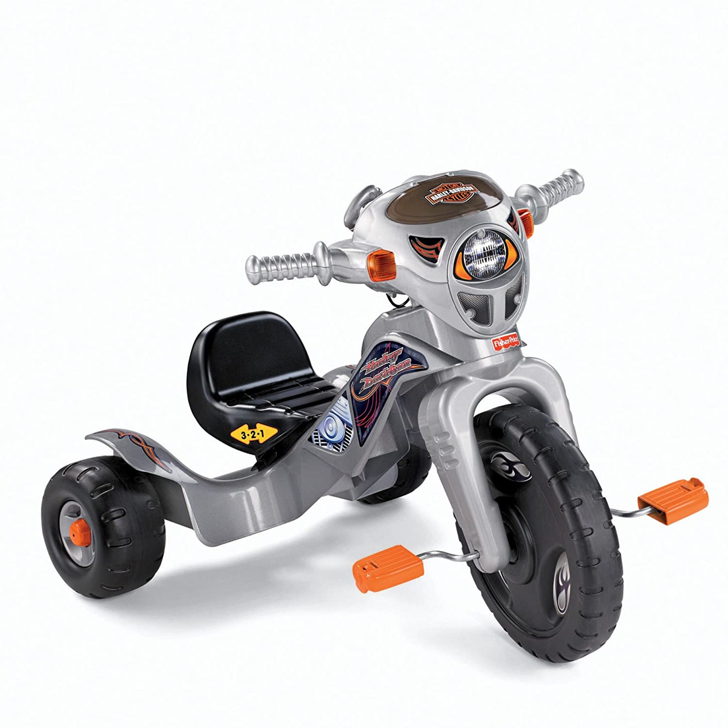 48646ebba81 Amazon.com: Fisher-Price Harley-Davidson Lights & Sounds Trike: Toys & Games