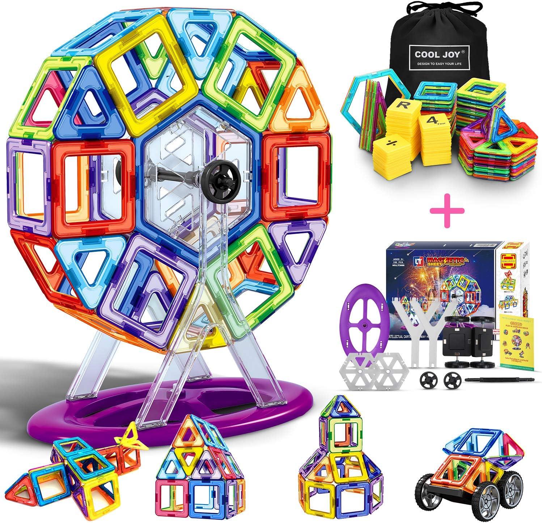 LOORI Bloques de Construcción Magnéticos, Bloques de Construcción Magnéticos 3D con Letra y Número en Plástico, Juguete Educativo -100 Piezas