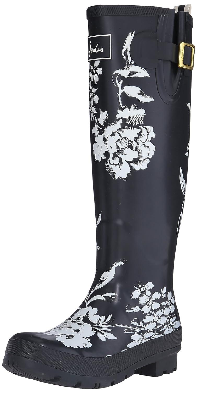 Joules Women's Welly Print Rain Boot B015JAHUUS 8 B(M) US Black Floral