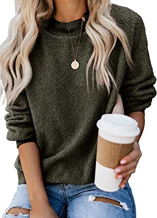 CASUAL MEN/'S WOMEN/'S PLAIN CREWNECK PULLOVER SWEATER FLEECE SWEATSHIRT ROUNDNECK