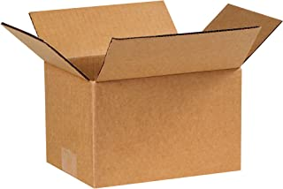"product image for Partners Brand P865 Corrugated Boxes, 8""L x 6""W x 5""H, Kraft (Pack of 25)"