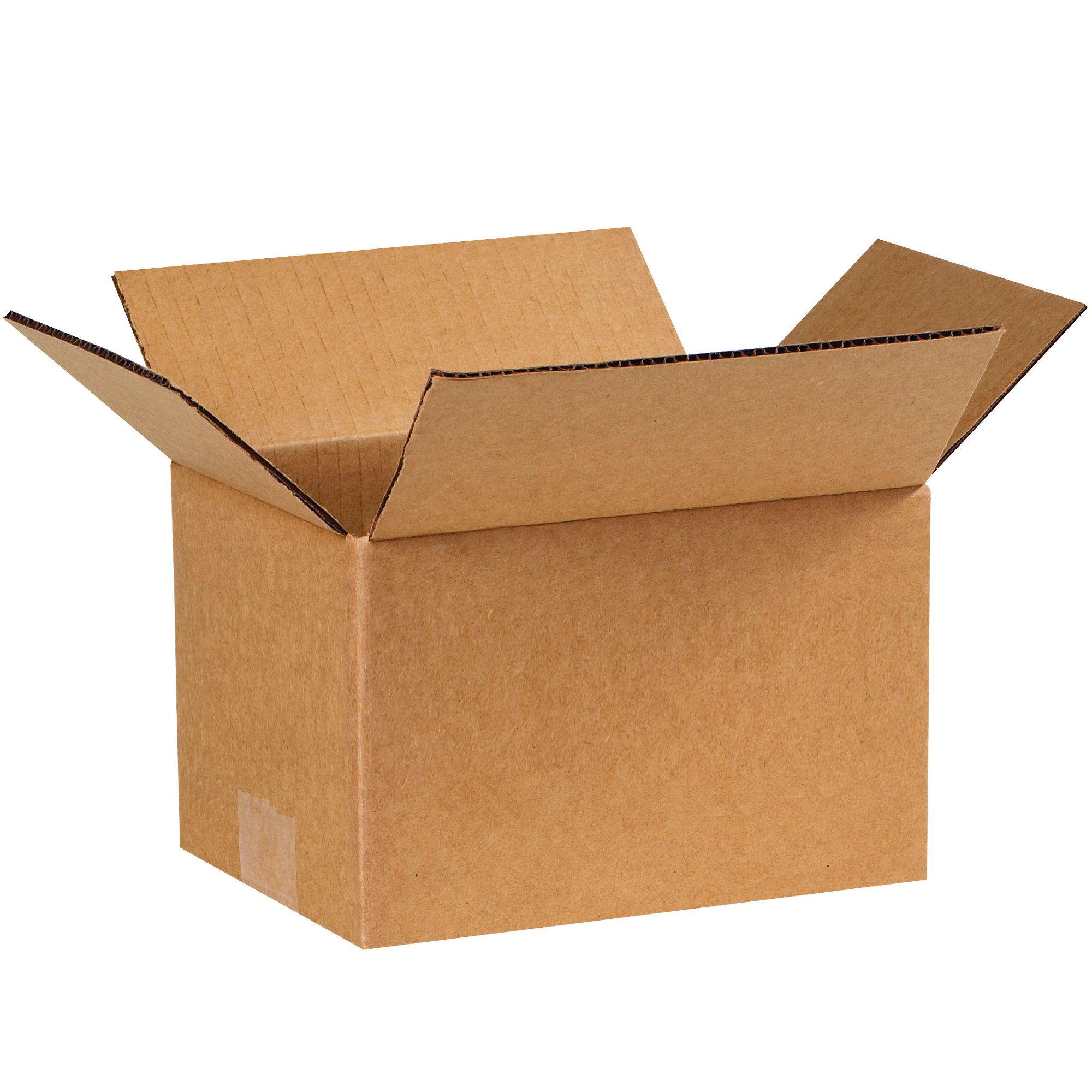 Partners Brand P865 Corrugated Boxes, 8'' L x 6'' W x 5'' H, Kraft (Pack of 25)