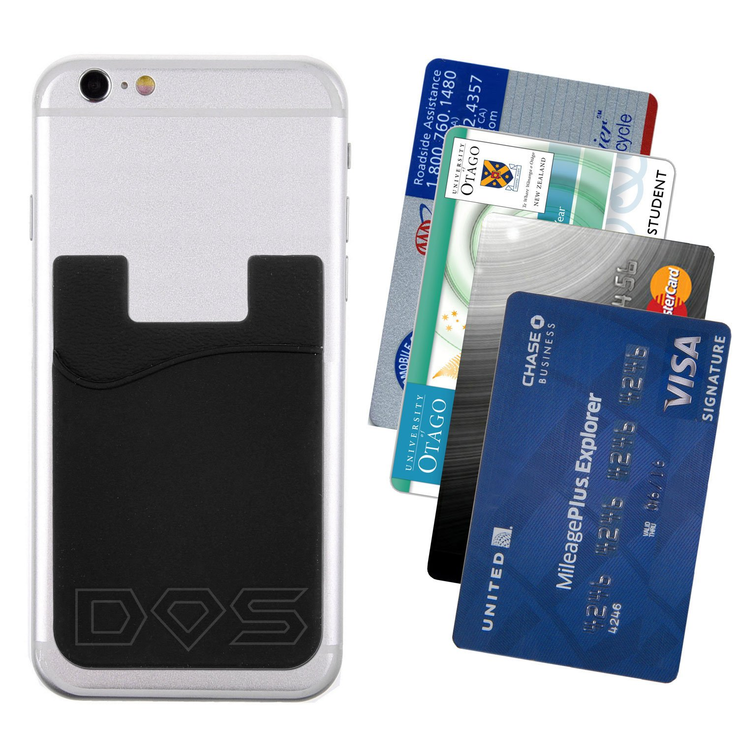 Amazon.com: Stick-On Wallet - ID/Credit Card Holder For Phones ...