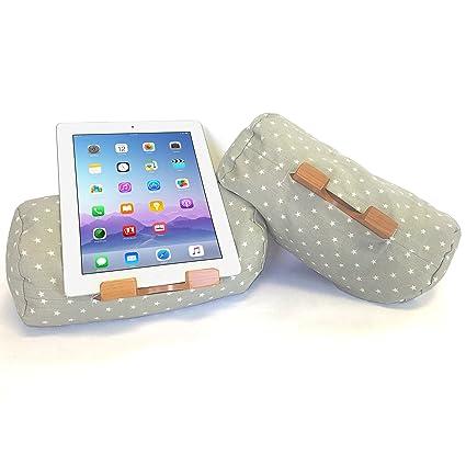 LAP LOG® - Cojín para iPad®, Soporte para Tableta, para todos los iPad, iPad mini, lector de libros electrónicos y tabletas PC. El relleno con cascos ...