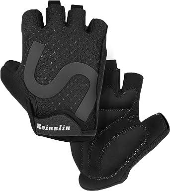 Grebarley Cycling Gloves for Men Women Bike Bicycle Gloves Gym Gloves Mountain Road Anti-Slip Shock-Absorbing Gel Pad Light Weight Breathable MTB Biking Gloves