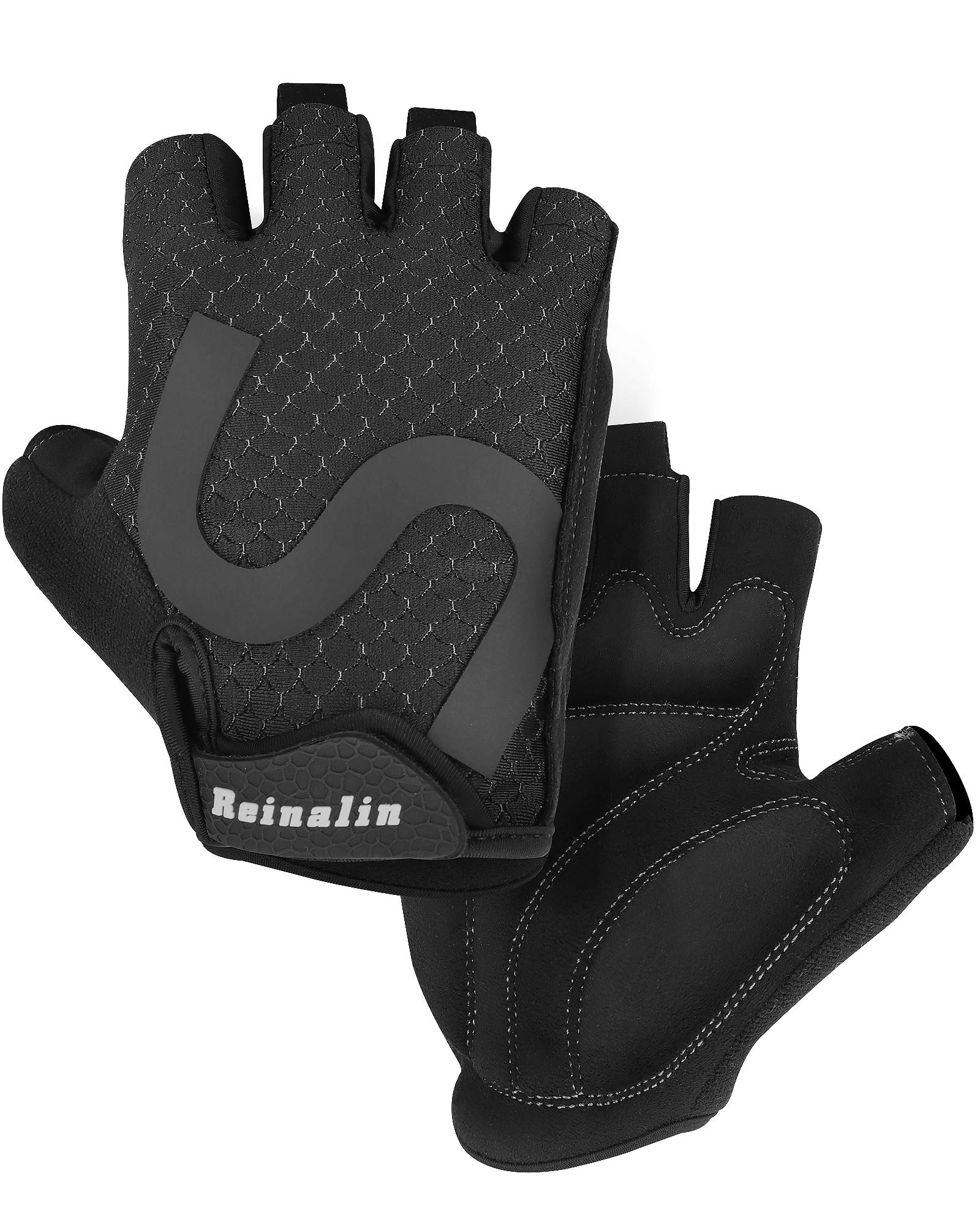 Cycling Gloves Gel Protection Breathable Bike Half Finger Fingerless Cycle Glove