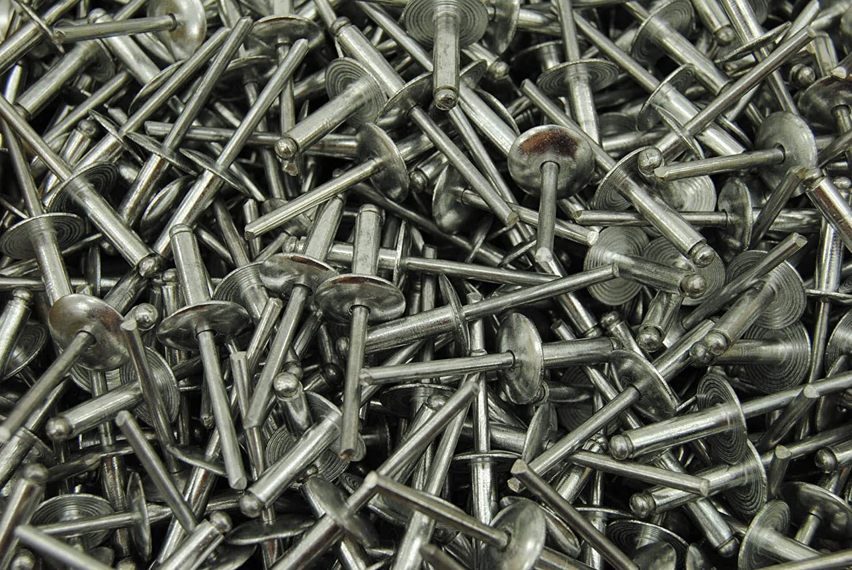 150 Large Flange 3//16 x 1//2 Aluminum Blind Pop Rivet 68 LF Dome Head 68AALF