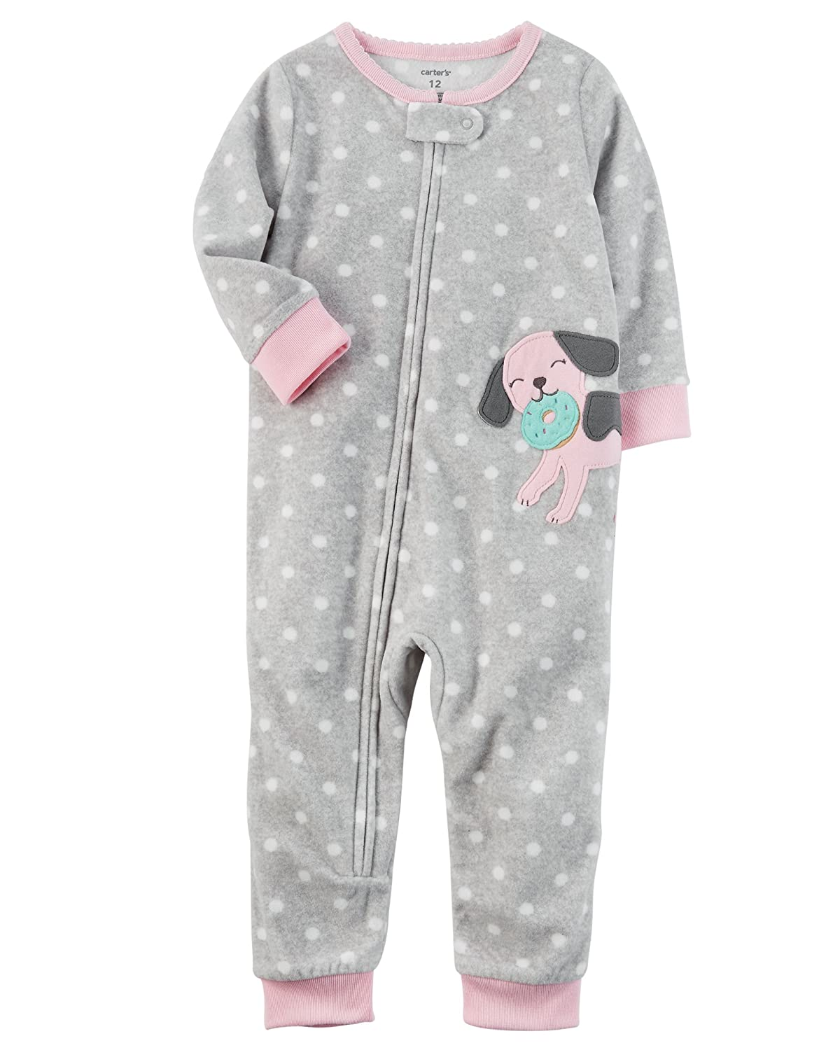 4349f06ca Amazon.com  Carter s Girls  1-Piece Footless Fleece PJs  Clothing