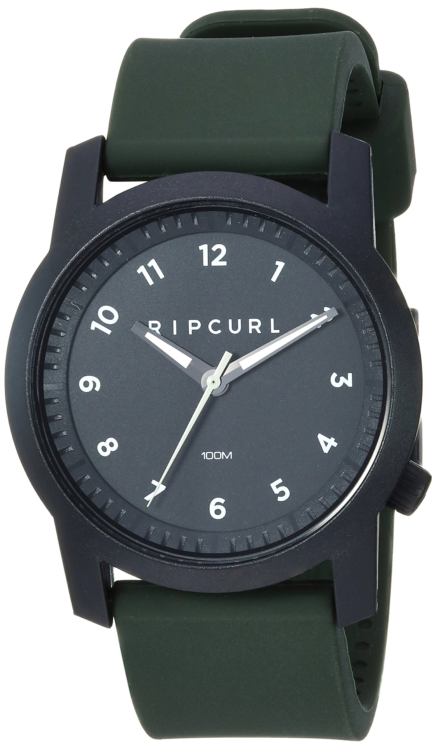 Rip Curl Men's Cambridge Quartz Sport Watch with Silicone Strap, Green, 22 (Model: A3088-MIL) by Rip Curl
