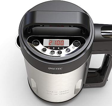 Imetec SM 1000 Soup Maker, Cocina y batidora, 3 programas automáticos, Vellutate, Zuppe y batidos, 6 raciones, cuchillas dentadas de acero inoxidable, con receta, 900 W, 1.6 litros: Amazon.es: Hogar