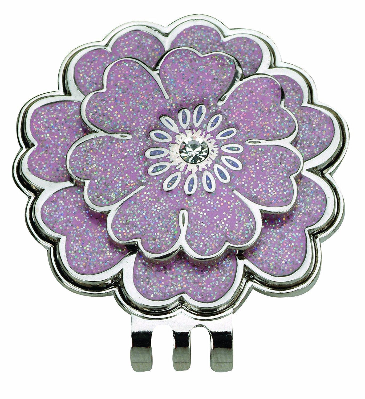 Navika Flower Swarovski Crystal and Glitz Ball Marker with Matching Hat Clip [並行輸入品] B074KL717Q