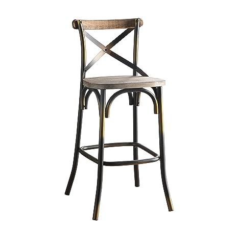 Amazon.com: Acme muebles 96805 Zaire silla de bar, cobre ...