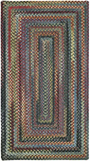 product image for Capel Rugs High Rock Rectangle Braided Area Rug, 7 x 7', Blue