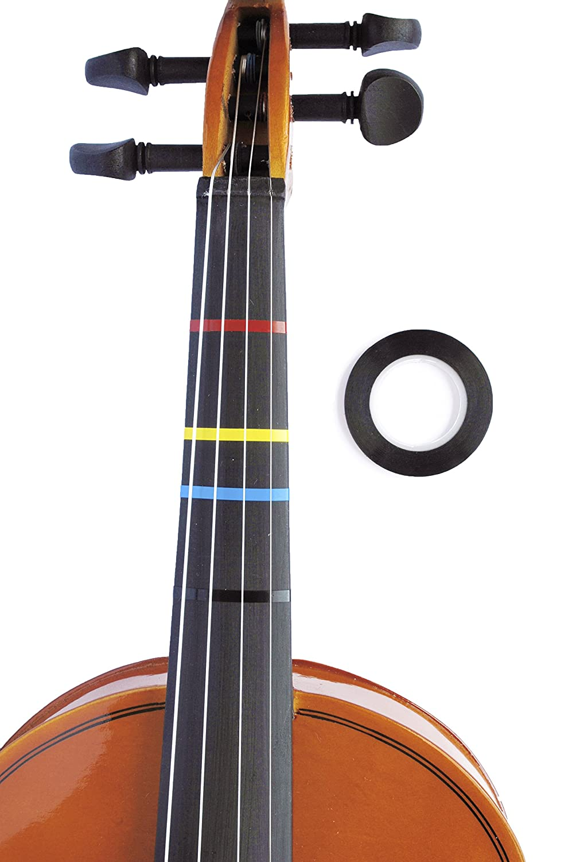 Amazon.com: Jumbo BLACK Violin Fingering Tape for Fretboard Note ...