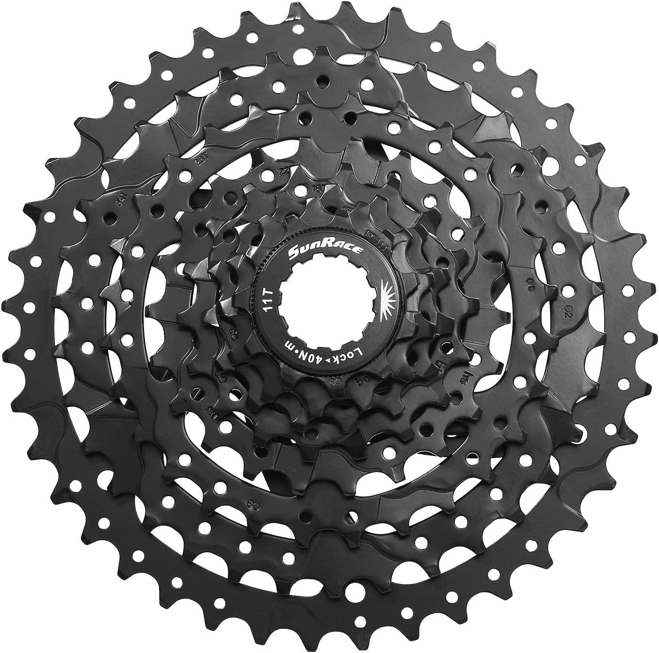 SunRace CSM680 M6 8 Speed Cassette Black 11-40T Bike