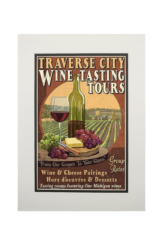 当店の記念日 Traverse x City、ミシガン州 – Wine Print Tasting Vintage Sign 15oz Tasting Mug LANT-3P-15OZ-WHT-43924 B06XZHC9ZK 11 x 14 Matted Art Print 11 x 14 Matted Art Print, あーかんび(AKANBI):295d5d0a --- podolsk.rev-pro.ru