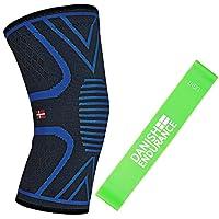Ginocchiera a compressione tutore di supporto unisex & fascia elastica fitness