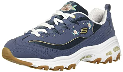 4932d9aea0ab Skechers Womens Burgundy D'Lites Rose Bloom Trainers: Amazon.co.uk ...