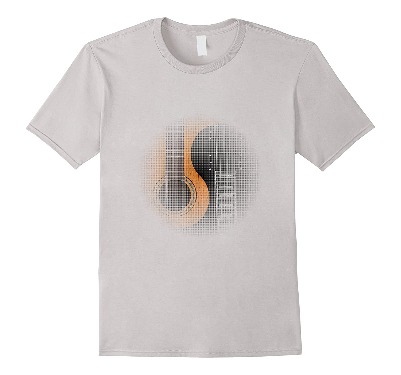 Yin-Yang Rock Guitar Fade T-Shirt For Men / Women-4LVS