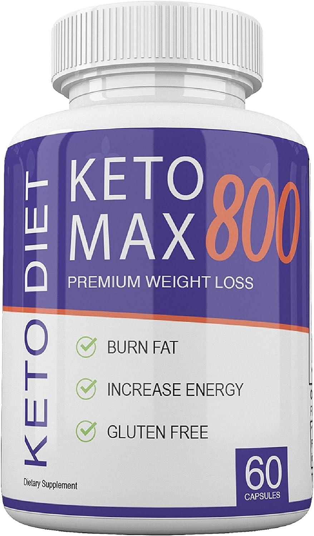 Keto MAX 800 - Premium Weight Loss - Burn Fat - Increase Energy - Gluten Free - 30 Day Supply