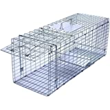Faicuk Large Collapsible Humane Live Animal Cage Trap for Raccoon, Opossum, Stray Cat, Rabbit, Groundhog and Armadillo…