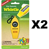 Coghlans Four Function Whistle for Kids (2 Pack)