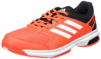 info for d2c0c e9b65 adidas Unisex Adults  Essence Handball Shoes, Red (Solar Red footwear White