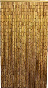 "MGP Natural Beaded Bamboo Curtain, 36"" W x 78"" H"