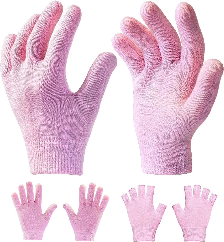 Sumifun Guantes humectantes, mascarilla para manos con loción humectante para manos secas y agrietadas, guantes de spa de belleza para el cuidado de las manos, regenerando, nutritiva(2 pares)
