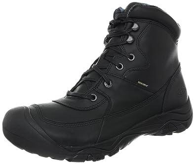 KEEN Men's Lumberjack Mid Waterproof Boot,Black,15 ...