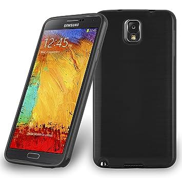 Cadorabo Funda para Samsung Galaxy Note 3 en Negro - Cubierta Proteccíon de Silicona TPU Delgada e Flexible con Antichoque - Gel Case Cover Carcasa ...