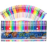 Gel Pens for Adult Coloring Books, 30 Colors Gel Marker Colored Pen with 40% More Ink for Drawing, Doodling Crafts Scrapbooks