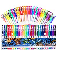 Gel Pens for Adult Coloring Books, 30 Colors Gel Marker Colored Pen with 40% More Ink for Drawing, Doodling Crafts Scrapbooks Bullet Journaling
