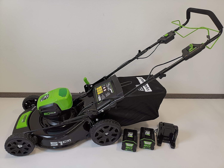 Greenworks Tools 80V acumulador cortacésped 51cm tracción a Las ...