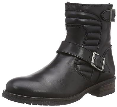 Buffalo London Damen ES ES 30575 Leather Biker Boots Schwarz (Preto 01) 42 EU