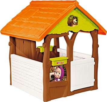 Masha y el Oso Casa de jardín, Color marrón/Verde/Naranja (Smoby 810600): Amazon.es: Juguetes y juegos
