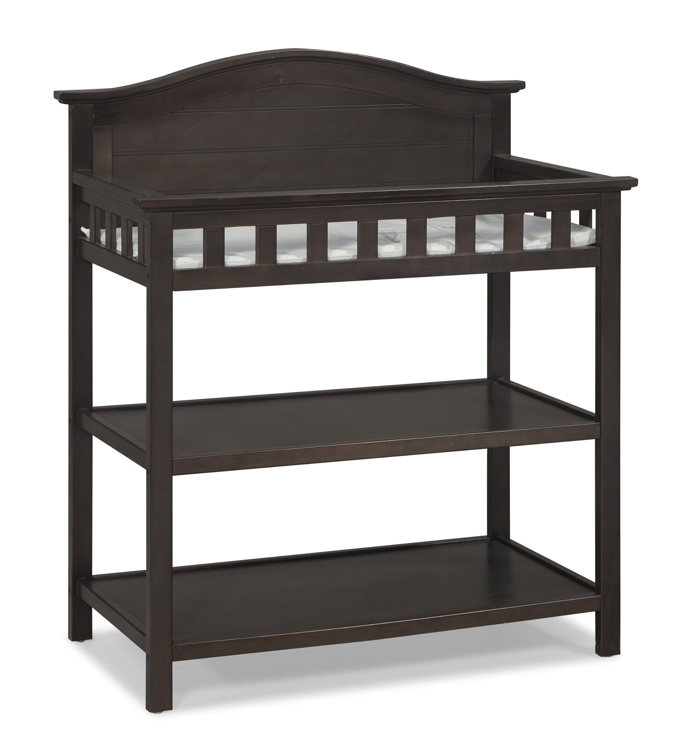 Thomasville Kids Southern Dunes Dressing Table with Pad, Espresso, Changing Table with Water Resistant Changing Pad, Safety Strap & Two Storage Shelves, for Infants & Toddlers by Thomasville Kids