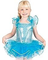 Child Flutter Sleeve Tutu Costume Dress,SK735