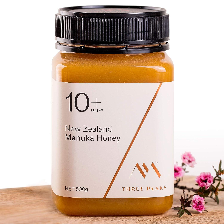 Three Peaks Manuka Honey New Zealand - Certified UMF 10+ / MGO 263+ - 17.6 oz (500gm) - 100% Natural honey, Raw honey – Ultra Premium, Healing Manuka honey